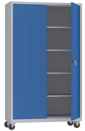 00150601 Szafa na akta na kółkach, 2 drzwi (wymiary: 1950 + koła x1200x500 mm)