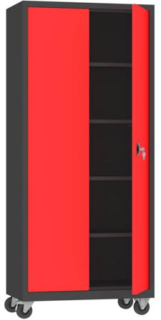 00150626 Szafa narzędziowa na kółkach, 2 drzwi (wymiary: 1950 + koła x900x500 mm)