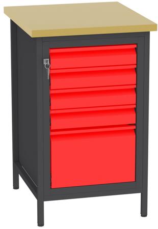 00150685 Stanowisko pod wiertarkę, 5 szuflad (wymiary: 880x550x600 mm)