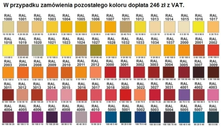 00150697 Szafa żaluzjowa, 2 półki (wymiary: 1250x800x600 mm)
