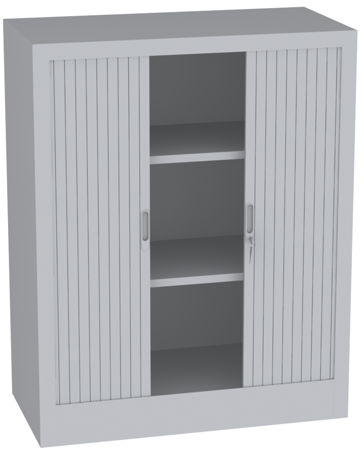 00150699 Szafa żaluzjowa, 2 półki (wymiary: 1250x1000x600 mm)