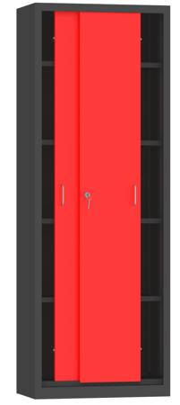 00150795 Szafa przesuwna, 4 półki (wymiary: 1950x700x400 mm)