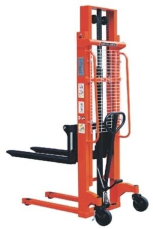 00543618 Wózek podnośnikowy ręczny z widłami regulowanymi oraz dodatkowa pompą nożną (udźwig: 1000 kg, min./max. wysokość wideł: 85/3000 mm)