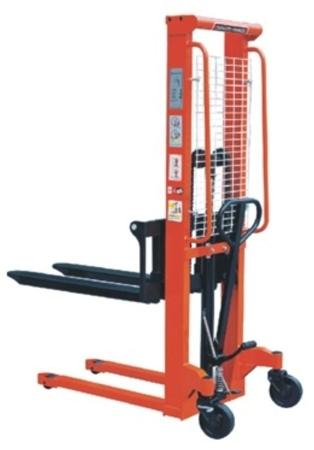 00543619 Wózek podnośnikowy ręczny z widłami regulowanymi oraz dodatkowa pompą nożną (udźwig: 1000 kg, min./max. wysokość wideł: 85/1600 mm)