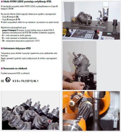 01538891 Silnik hydrauliczny tłoczkowy Hydro Leduc M25 (objętość robocza: 25 cm³, maksymalna prędkość ciągła: 6300 min-1 /obr/min)