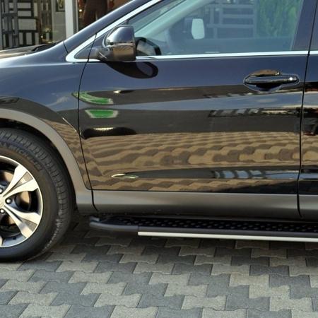 01656111 Stopnie boczne, czarne - Hyundai Tucson 2004-2009 (długość: 171 cm)