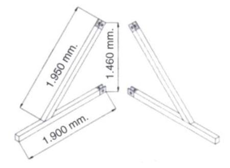 08115186 Podpory (komplet) do wyciągarki Camac: P-200, P-150, M-100, 2003, Millennium 325