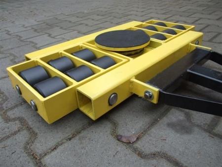 12235607 Wózek skrętny 12 rolkowy, rolki: 12x stal (nośność: 16 T)