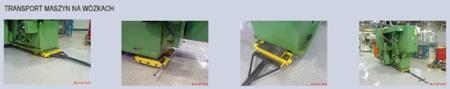 12235628 Zestaw wózków, rolki: 36x kompozyt (nośność: 64 T)