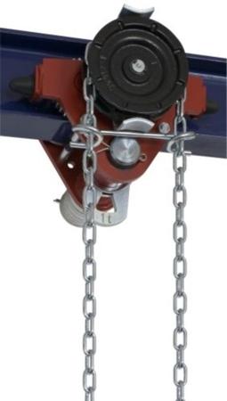 2203095 Wózek jedno-belkowy z napędem ręcznym Z420-A/1.0t/3m (wysokość podnoszenia: 3m, szerokość dwuteownika od: 50-113mm, udźwig: 1 T)