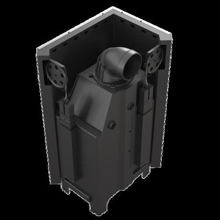 30053247 Wkład kominkowy 13kW MBO 13 BS Gilotyna (lewa boczna szyba bez szprosa, drzwi podnoszone do góry)
