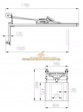 310414 Wózek podnośnikowy elektryczny E150 (udźwig: 150 kg)