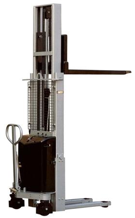 310510 Wózek podnośnikowy z częściowym napędem elektrycznym MS1009 (maszt pojedyńczy, wysokość podn. maks: 900mm, udźwig: 1000 kg)
