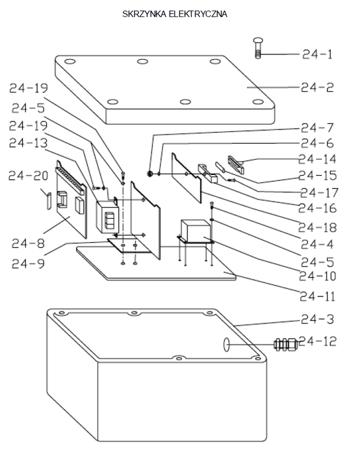 3109771 Stół podnośny elektryczny HW1004 (wymiary platformy: 640x1580mm, udźwig: 1000 kg)