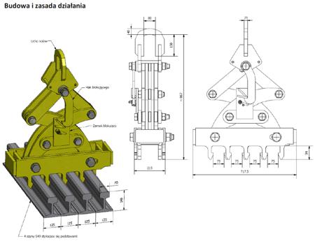 33938764 Uchwyt do przenoszenia szyn miproTrain HPL 12 (udźwig: 12000 kg, ilość szyn: 12)