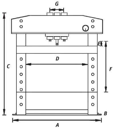 44340226 Prasa hydrauliczna Unicraft WPP 50 E (siła nacisku: 50 t)