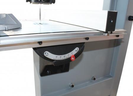 44349939 Piła taśmowa Holzmann HBS 400 230V (wymiary obrabianego przedmiotu: 380/220 mm, wymiary blatu: 500x400 mm)