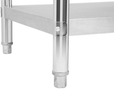 45643454 Stół roboczy ze stali nierdzewnej z kantem Royal Catering RCAT-180/60-S (wymiary: 180 x 60 x 85 cm)
