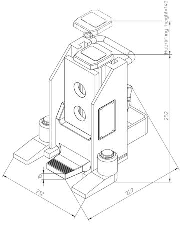 49930341 Podnośnik hydrauliczny V5-EX (nośność: 5T)