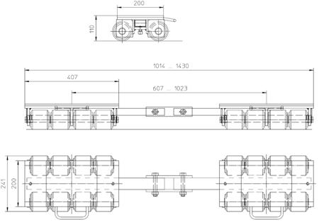 4993996 Podwozie transportowe F18 (nośność: 18T)