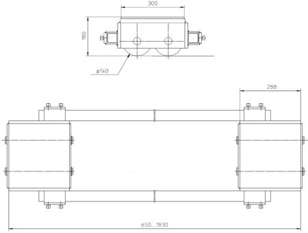4994000 Podwozie transportowe F30 (nośność: 30T)