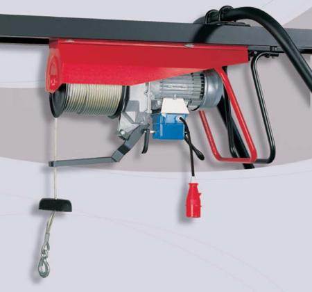 55547217 Wciągarka budowlana elektryczna Bellussi HE 500 TF Invertitore z przełącznikiem (udźwig: 500 kg, długość liny: 25m)