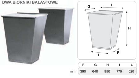 55547228 Dwa zbiorniki balastowe do podstawy 800 kg