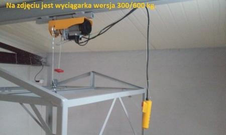 55928532 Wyciągarka linowa elektryczna Industrial 500/990 230V, hamulec automatyczny (udźwig: 500/990 kg)  stare 1200 kg