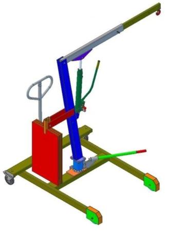 61742359 Żuraw hydrauliczny obrotowy ręczny (udźwig: od 300 do 500kg)