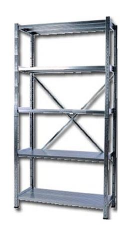 77156824 Regał ocynkowany zaczepowy, 5 półek (wymiary: 3000x1300x600 mm)