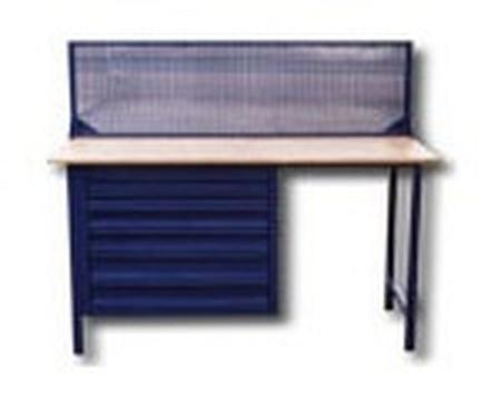 77156887 Stół warsztatowy z niską nadbudowa (wymiary: 1500x750x900 mm)