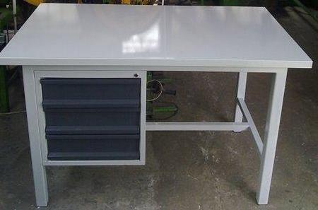 77156962 Stół warsztatowy mocny, 3 szuflady (wymiary: 1600x900x1000 mm)