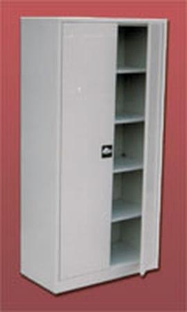 77157090 Szafa biurowa ekonomiczna, 2 drzwi, 4 półki regulowane (wymiary: 1800x1200x440 mm)