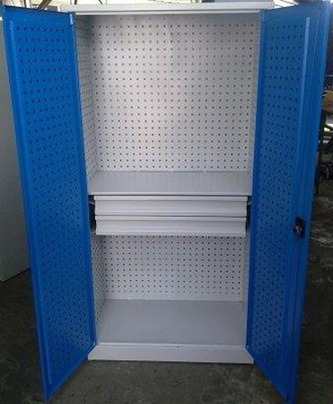77157233 Szafa narzędziowa, 2 szuflady, 2 regulowane półki (wymiary: 1800x900x500 mm)
