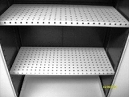 77157292 Szafa na chemikalia z wanną ociekową, 2 półki (wymiary: 1000x970x500 mm)