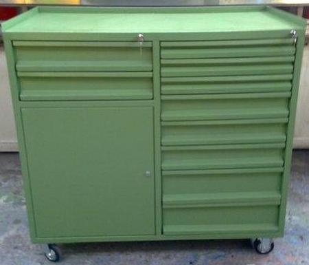 77157348 Wózek narzędziowy, 10 szuflad, 1 szafka (wymiary: 1150x1200x600 mm)