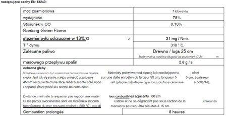 DOSTAWA GRATIS! 86854918 Piec wolnostojący Invicta 7kW Remilly (wylot spalin: góra, kolor: antracyt)