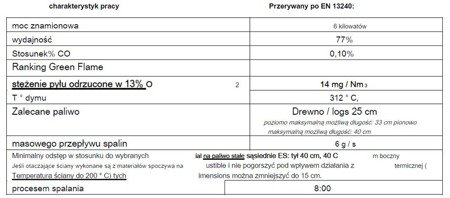 86854925 Piec wolnostojący Invicta 6kW Alcor + dolot powietrza (wylot spalin: góra, kolor: antracyt)
