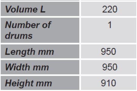 99724716 Paleta do transportu beczek z barierkami bezpieczeństwa GermanTech (ilość beczek: 1, wymiary: 950x950x910 mm)
