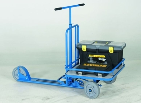 99724878 Hulajnoga z platformą GermanTech 690x585 mm, niebieska (udźwig: 150 kg)
