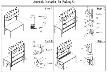 99724952 Zestaw do pakowania do stołów roboczych GermanTech 74302 i 74304 (szerokość cięcia: 1300 mm)