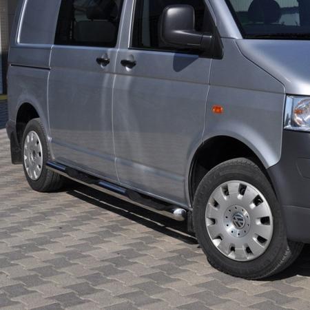 DOSTAWA GRATIS! 01656395 Orurowanie ze stopniami z zagłębieniami - Volkswagen T5 Long 3 stopnie