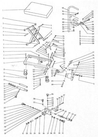 DOSTAWA GRATIS! 0301620 Wózek platformowy nożycowy (udźwig: 150 kg, wymiary platformy: 700x450 mm)