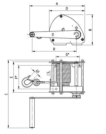 DOSTAWA GRATIS! 22039041 Wciągarka linowa LN/1.0t (bez liny, udźwig: 1 T)