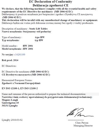 DOSTAWA GRATIS! 3109770 Stół podnośny elektryczny (wymiary platformy: 1000x1600mm, udźwig: 1000 kg)