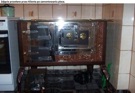 DOSTAWA GRATIS! 92238167 Kuchnia kaflowa 11kW Dominika (kolor: brąz)