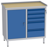 00150657 Szafka warsztatowa, 1 drzwi, 5 szuflad (wymiary: 850x900x505 mm)
