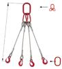 33948496 Zawiesie linowe czterocięgnowe miproSling T 23,5/16,5 (długość liny: 1m, udźwig: 16,5-23,5 T, średnica liny: 32 mm, wymiary ogniwa: 340x180 mm)